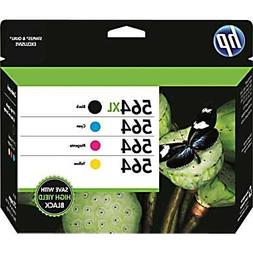 HP 564XL/564 High Yield Black and Standard C/M/Y Color Ink C