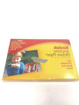 """Kodak Anytime Picture Paper for Inkject Printers 4""""x6"""" 100 S"""