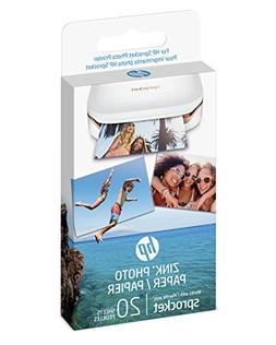 HP ZINK Sticker Photo Paper for HP Sprocket Printer , 20 She