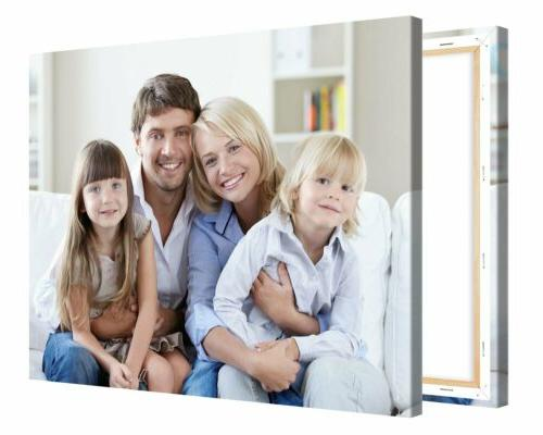 Custom own photo on HD Gallery wrapped Framed High Quality