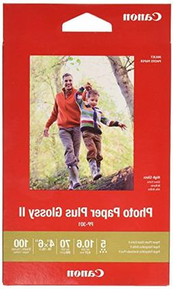 """CANON PHOTO PAPER PLUS HIGH GLOSSY II, 4X6"""" 100 SHEETS"""