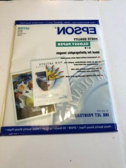 SEALED EPSON S041124 LETTER PHOTO QUALITY GLOSSY PRINTER PAP