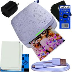 HP Sprocket 2nd Edition Portable Photo Printer, Lilac + Pape